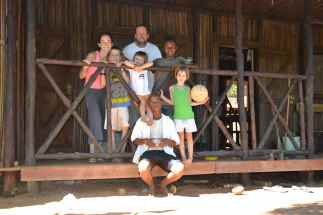 This was taken from our front porch with our homestay kids Franklin and Rivaldo
