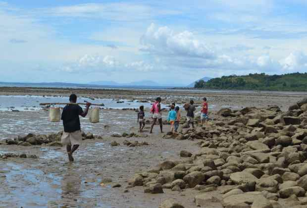 This was taken on a long walk to Lokobe Reserve, while the tide was out, with our home-stay family.
