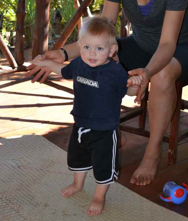 This is Ben, the youngest brother of James and Eli. He's from Canada and he'll celebrate his 1st birthday this Saturday!