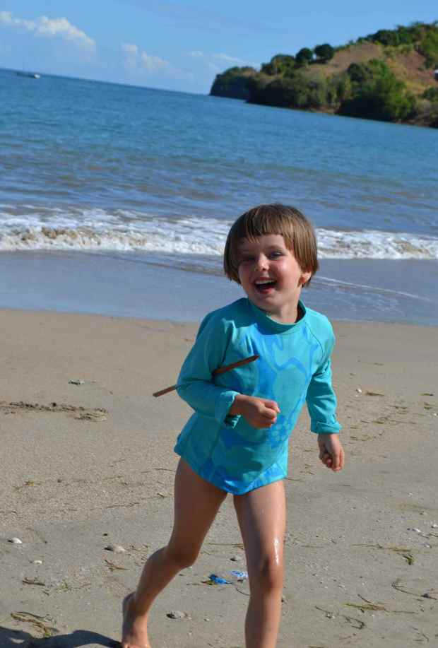 Keely loves collecting little trinkets wherever she goes...this day it was shells and sticks.