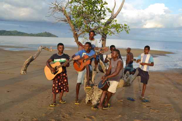 Rebe and I have become friends with some local guys who play in a band. They are amazing... this is a picture of them playing at the beach just down the road from us